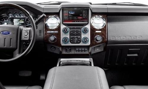 2018 Ford Bronco interior