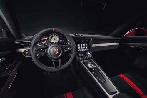 2018 Porsche 911GT3 interior